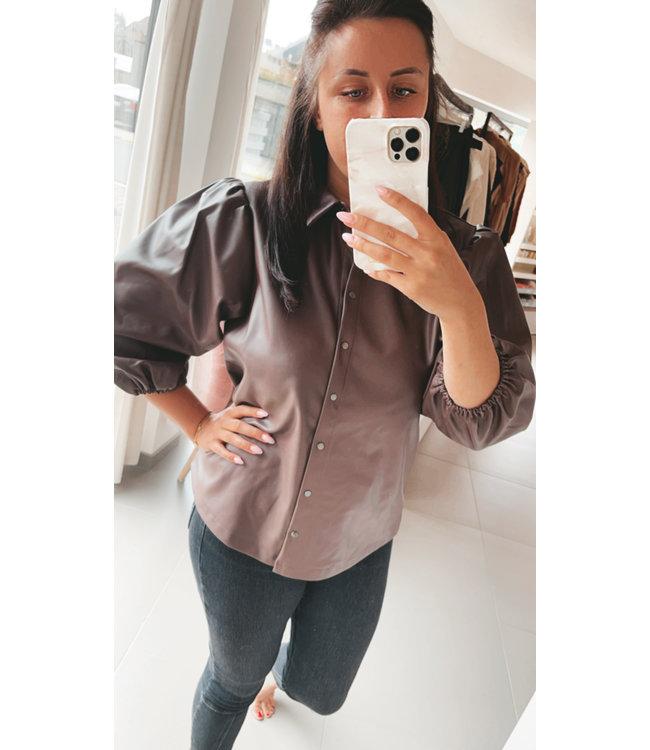 Virisa Fake Leather Shirt