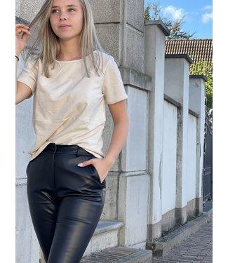 Rut&Circle Tilde Pu Pants Black