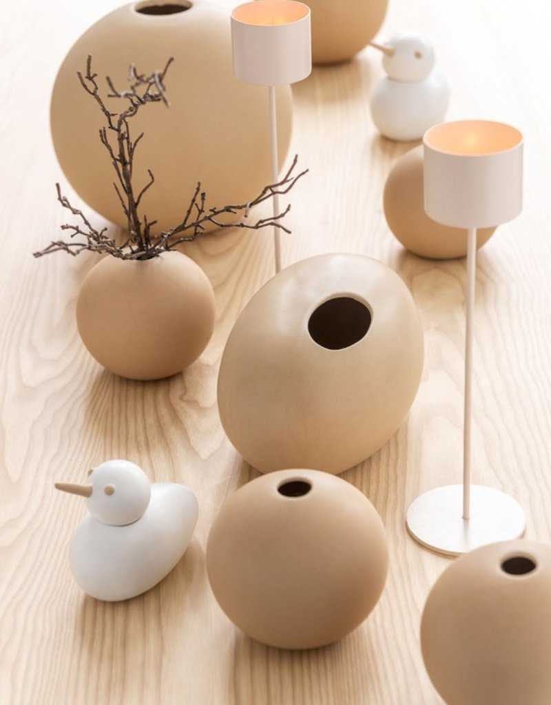 Jolipa  beige Porzellanvase in Kugelform