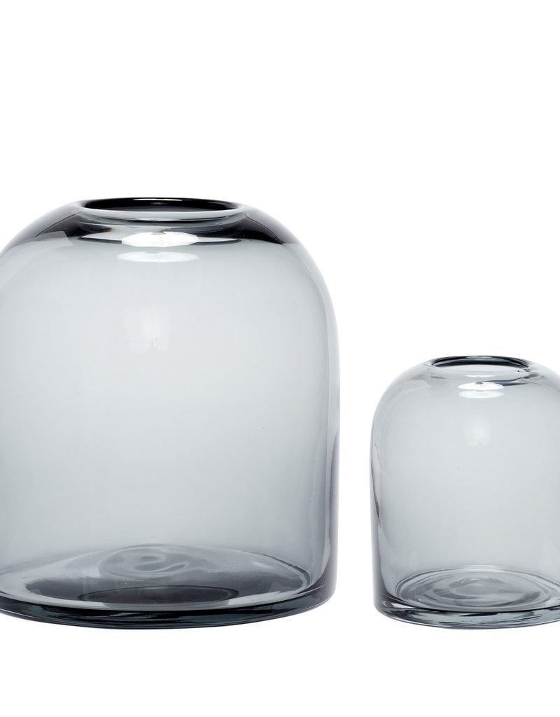 Hübsch Interior Blumenvase grau  - Glas