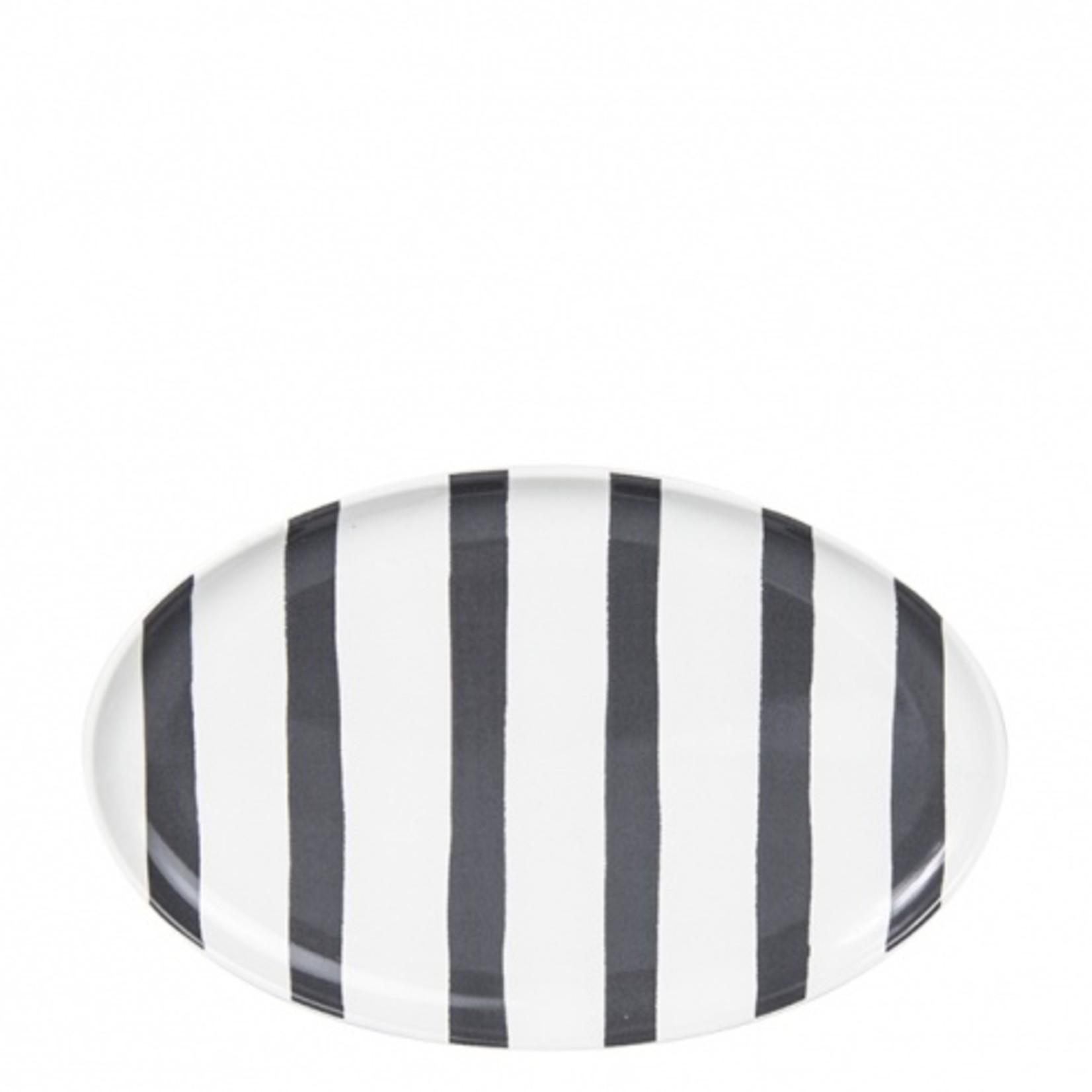 Bastion Collections ovaler Teller Stripes