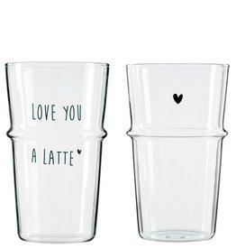 Bastion Collections Latte Macchiatto Glas