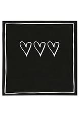 Bastion Collections Serviette Hearts black