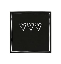 Bastion Collections Serviette hearts