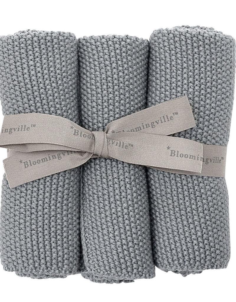 Bloomingville  Putztücher Baumwolle grau