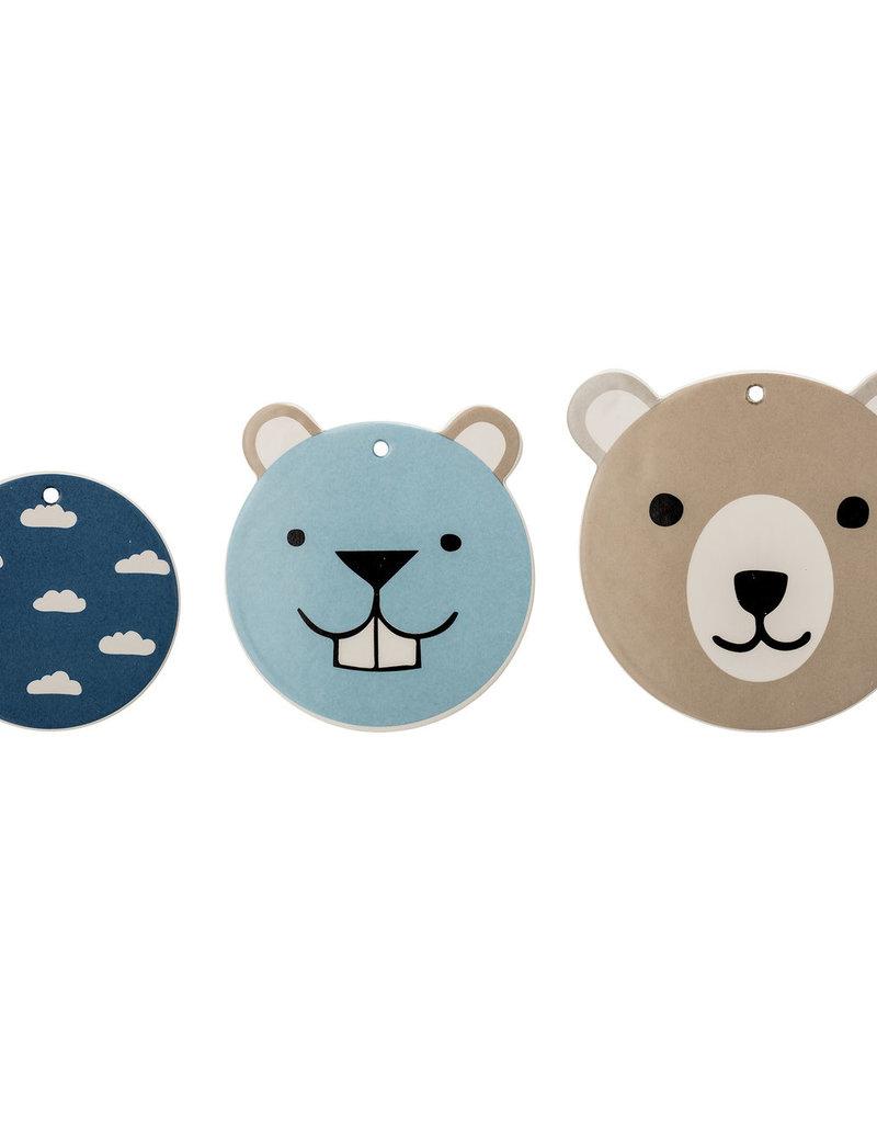 Bloomingville  Wanddeko Teddys blau