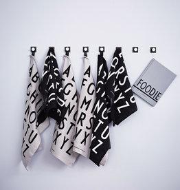 Design Letters Classic Tea Towel white