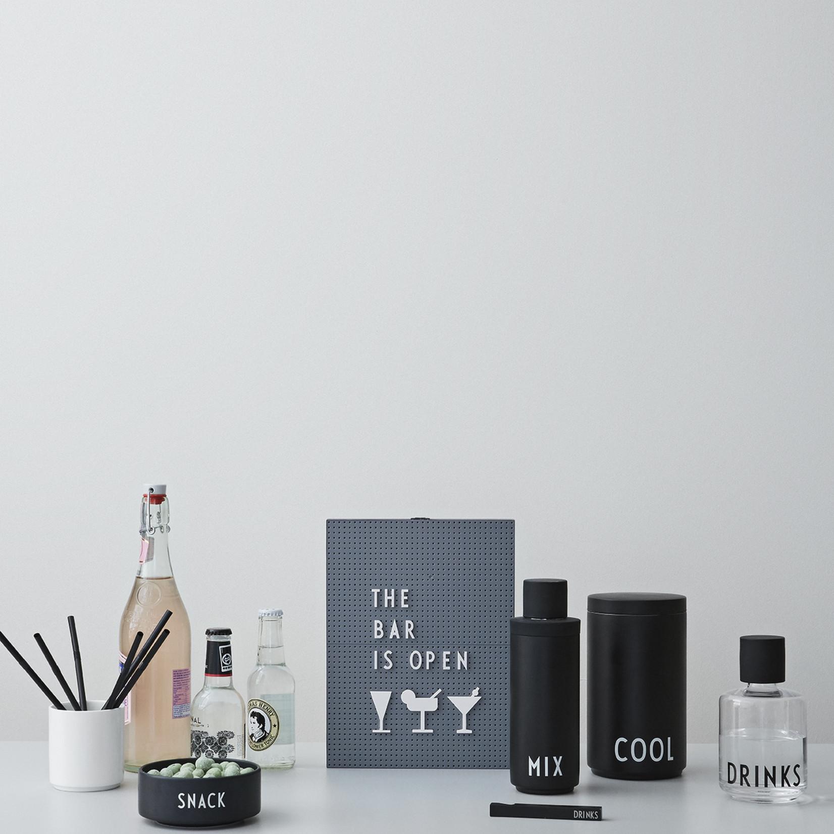 Design Letters Schüssel schwarz mit Aufschrift