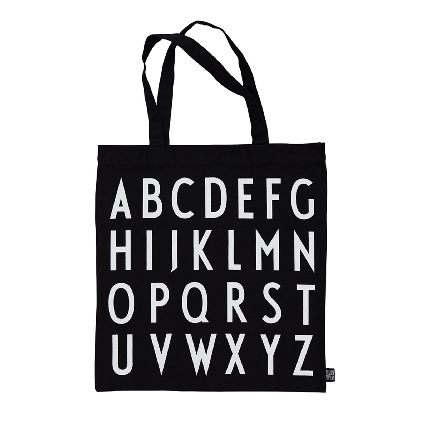 Design Letters Tote bag black - ABC
