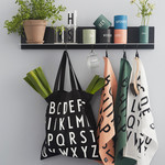 Design Letters Tote bag black - ABC