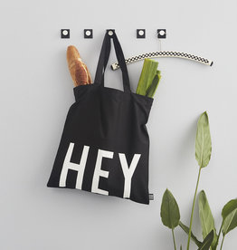 Design Letters Tote bag black - HEY