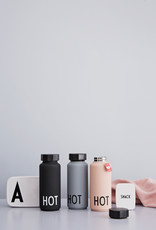 Design Letters Thermo Insulated Bottle Black Hot