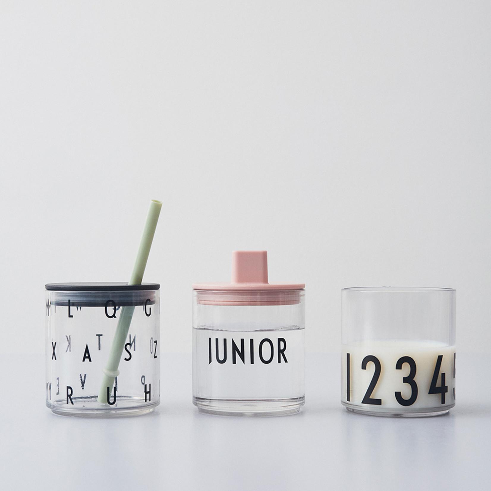 Design Letters Straw lid - BLACK
