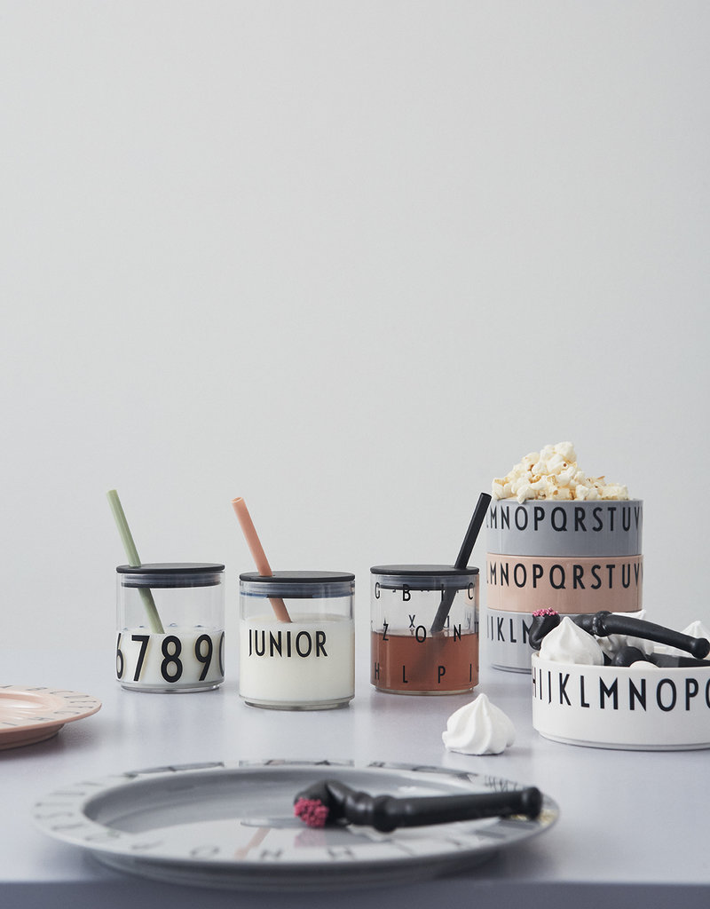 Design Letters Straw lid - BLACK