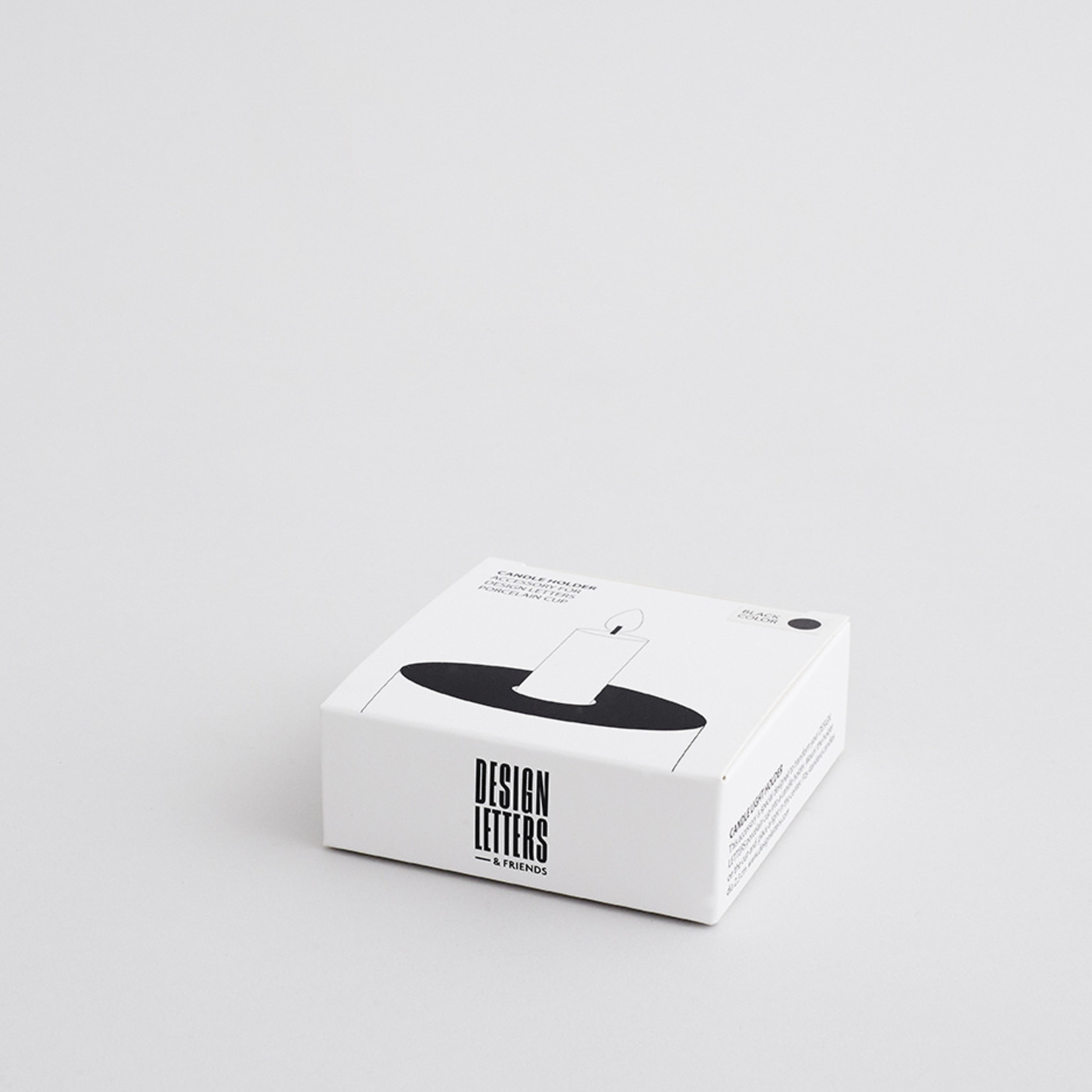 Design Letters Candle holder Black