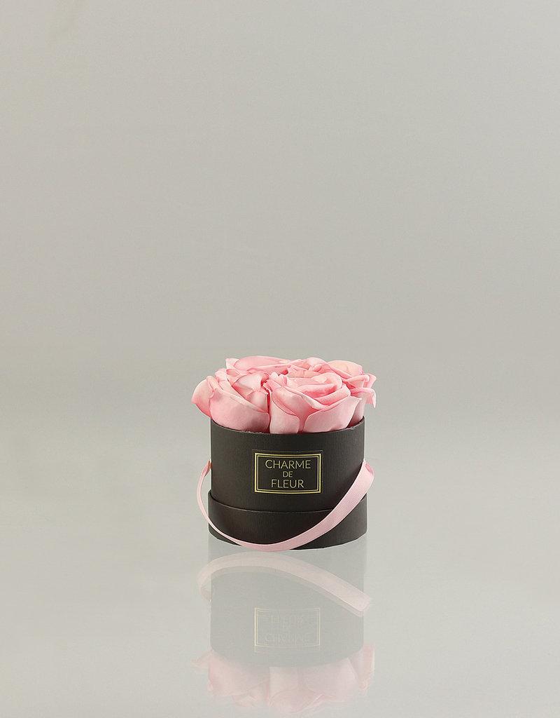 Charme de Fleur Geschenkbox 4 Rosen BLACK