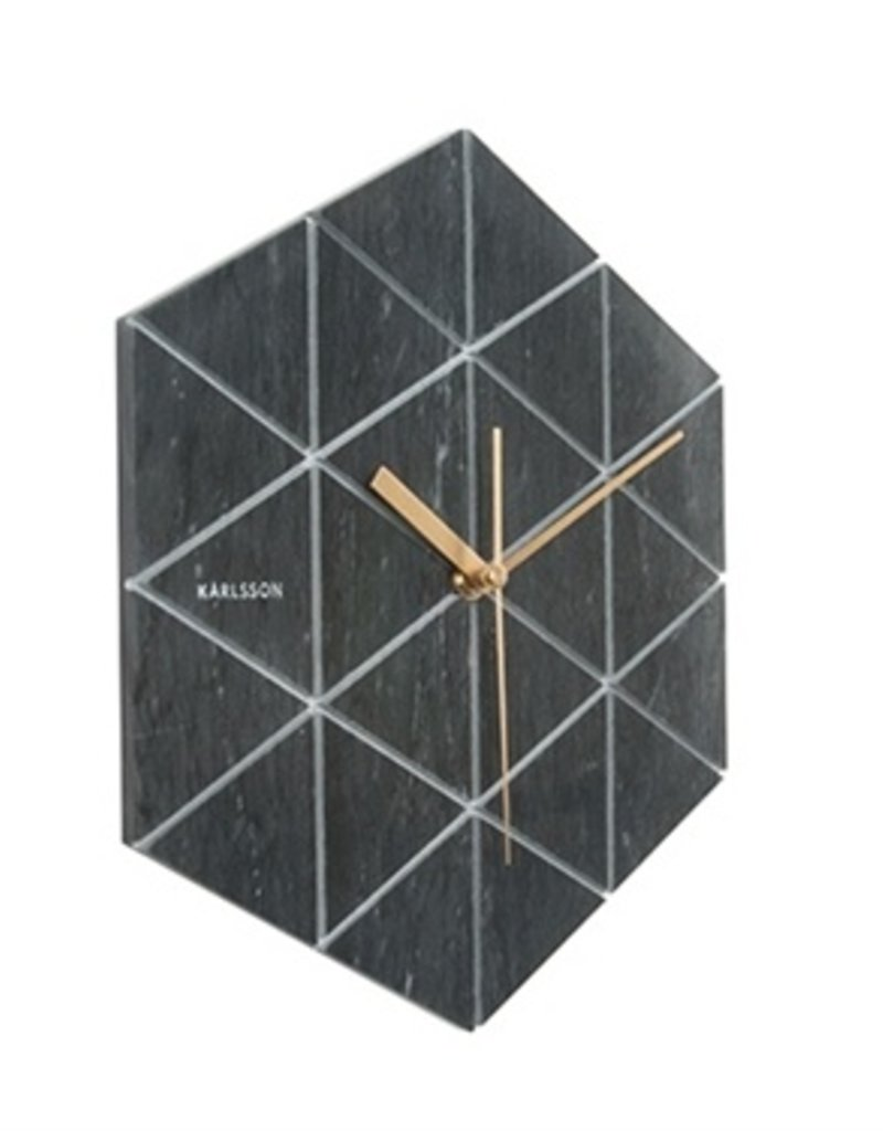 Presenttime Wanduhr black marble