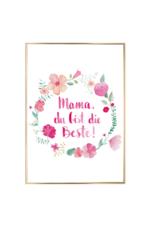 Eulenschnitt Artprint Mama du bist die Beste