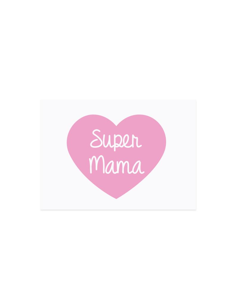 Eulenschnitt Postkarte Super Mama
