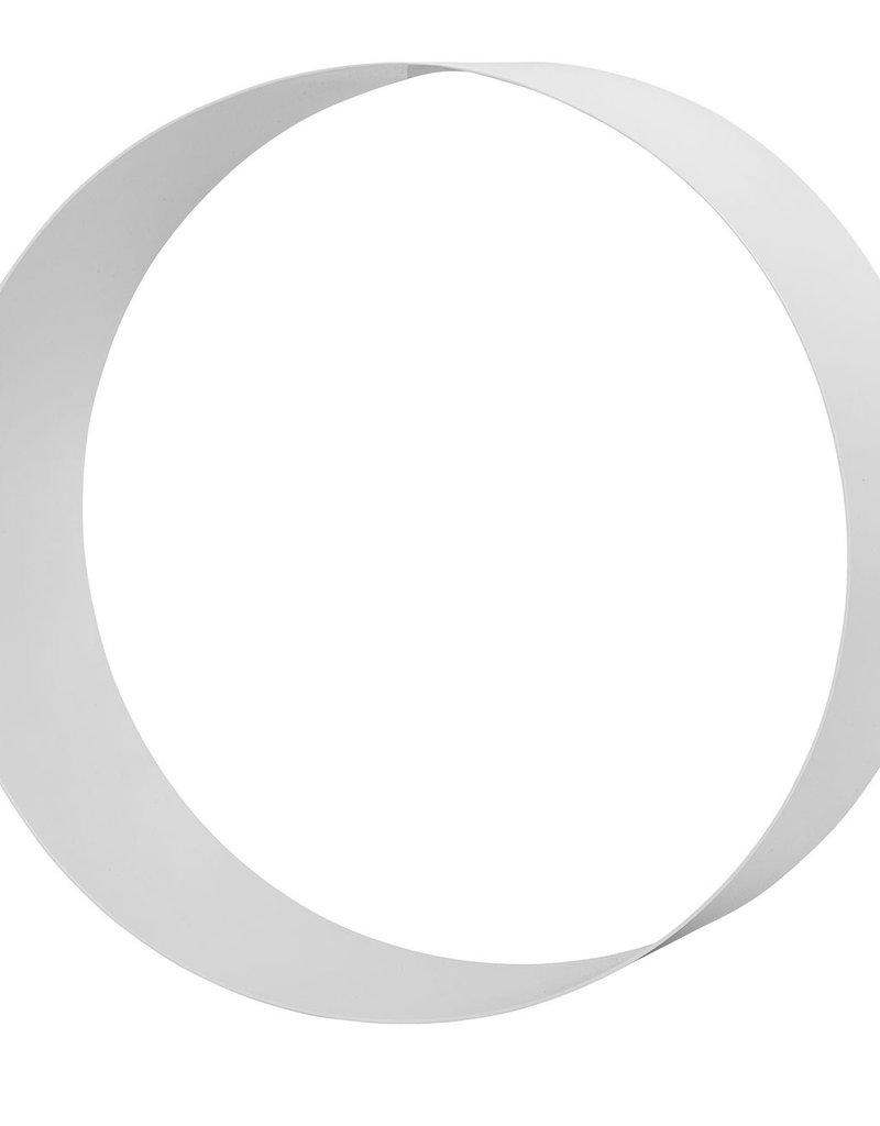 Bloomingville  Metallregal rund weiß flach