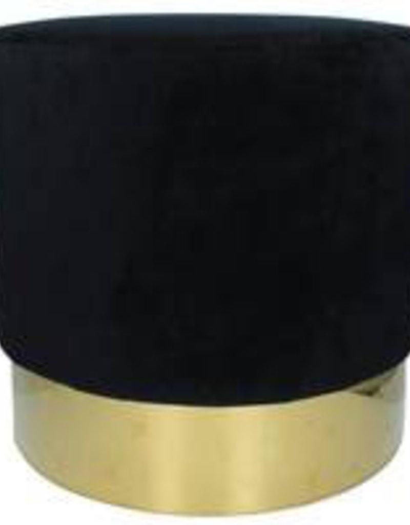 Pouf schwarz/gold