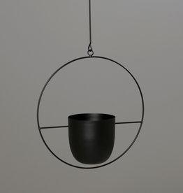 Pflanztopf zum Aufhängen schwarz