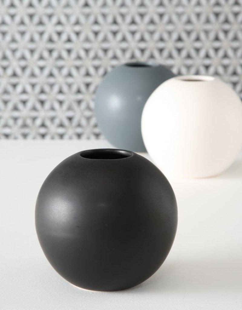 Ballvase grau oder weiß