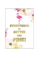 Postkarte Pink