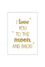 Postkarte to the moon and back