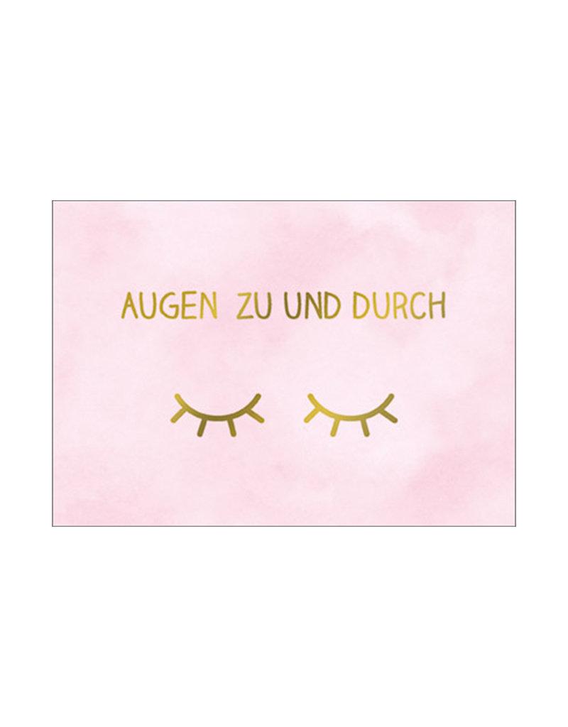 Postkarte Augenzu