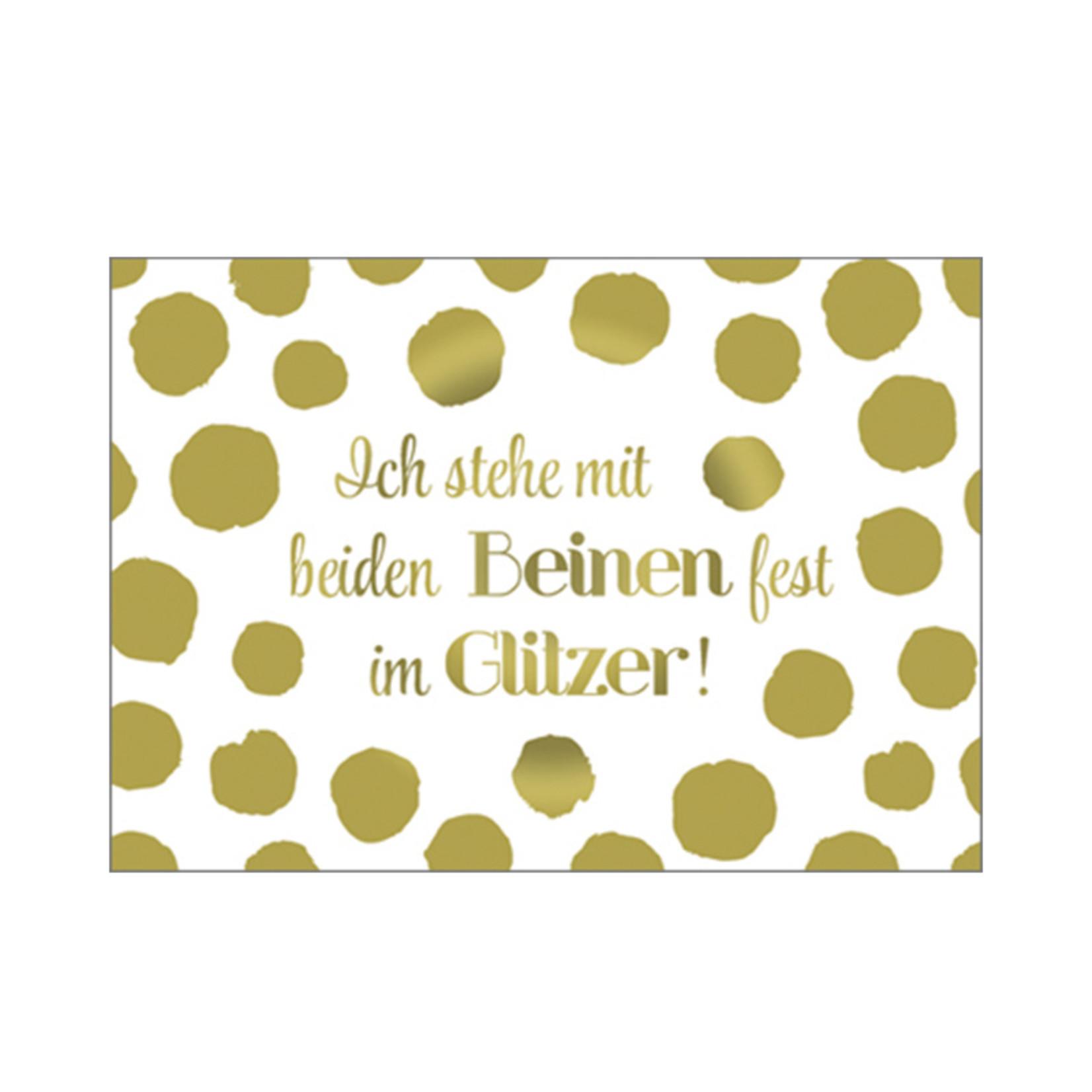 Postkarte Glitzer