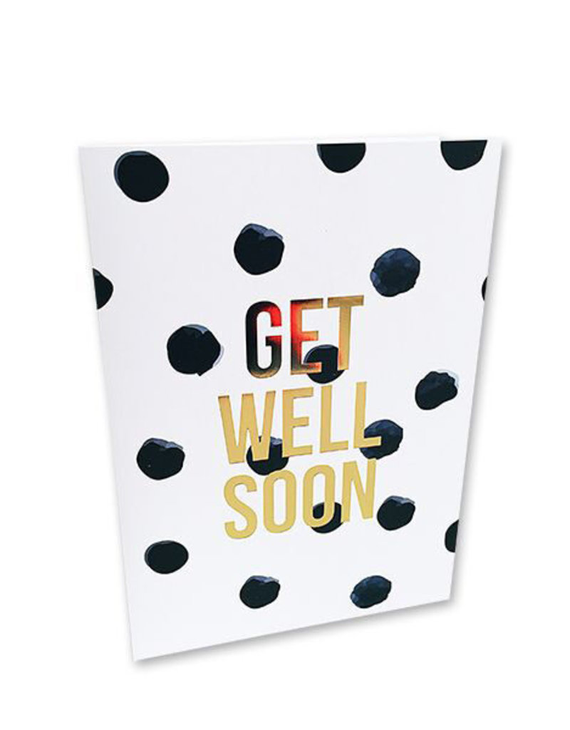 Umschlagkarte get well soon
