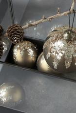 House Doctor Weihnachtskugel Flake beige