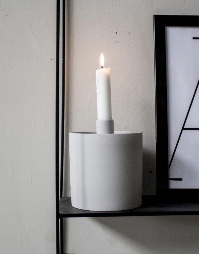 Storefactory  Kerzenständer und Schüssel grau