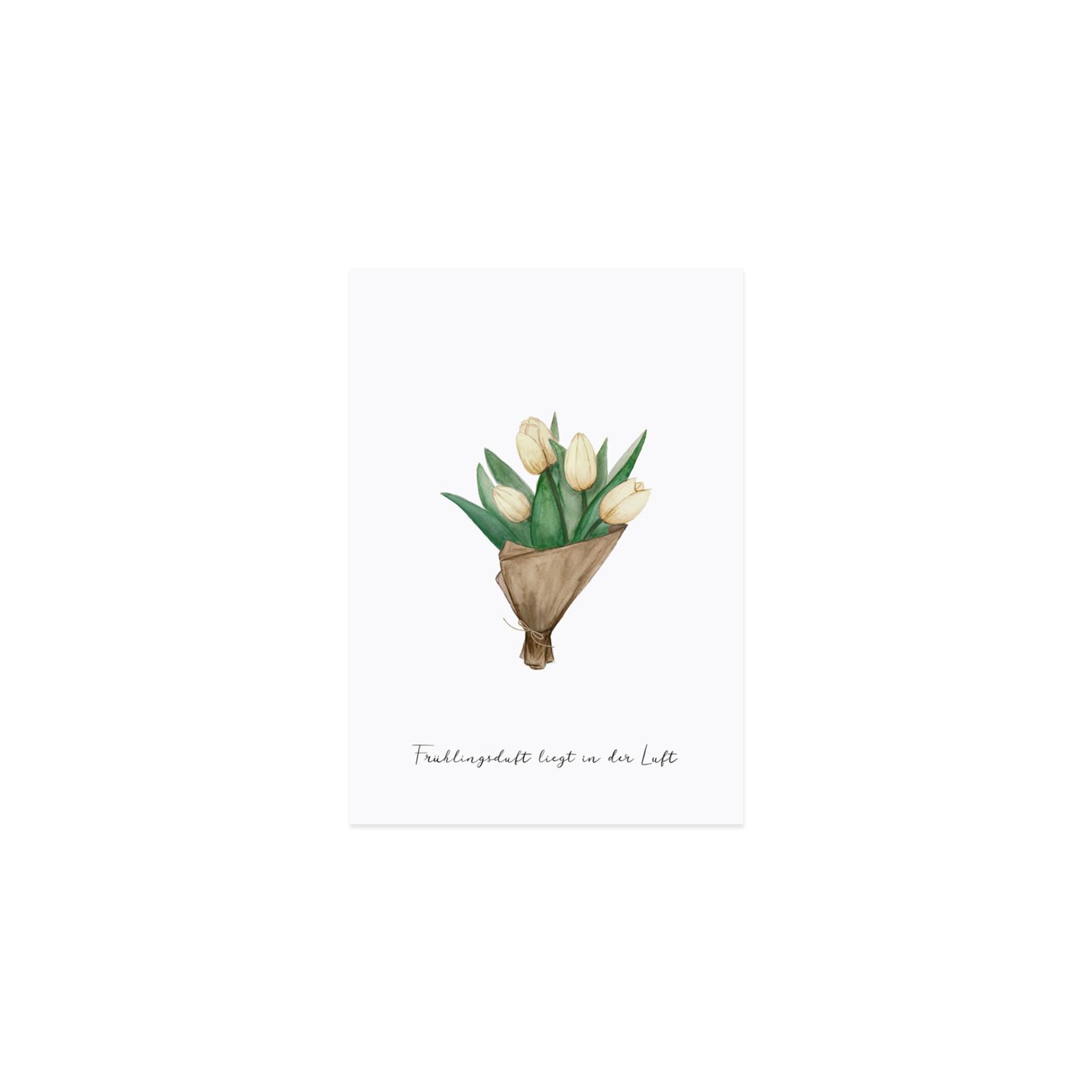 Eulenschnitt Postkarte Tulpen