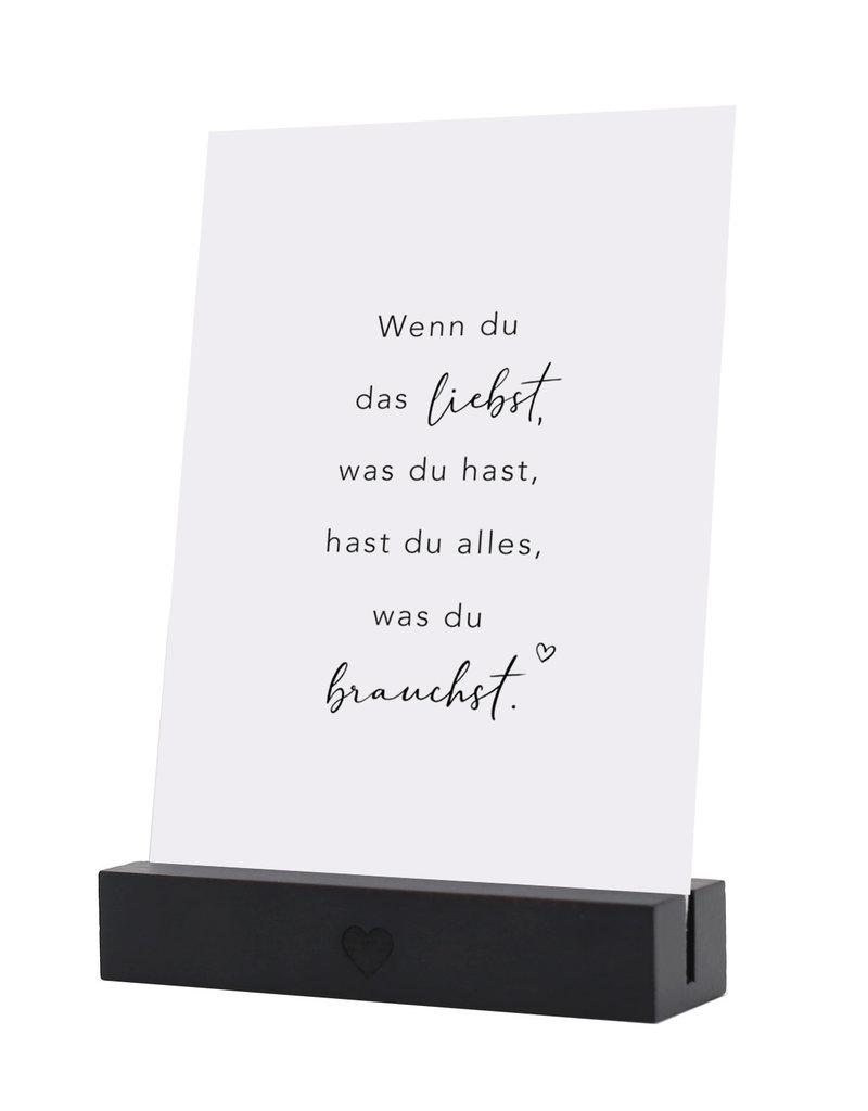 Eulenschnitt Postkartenständer schwarz 2er Set