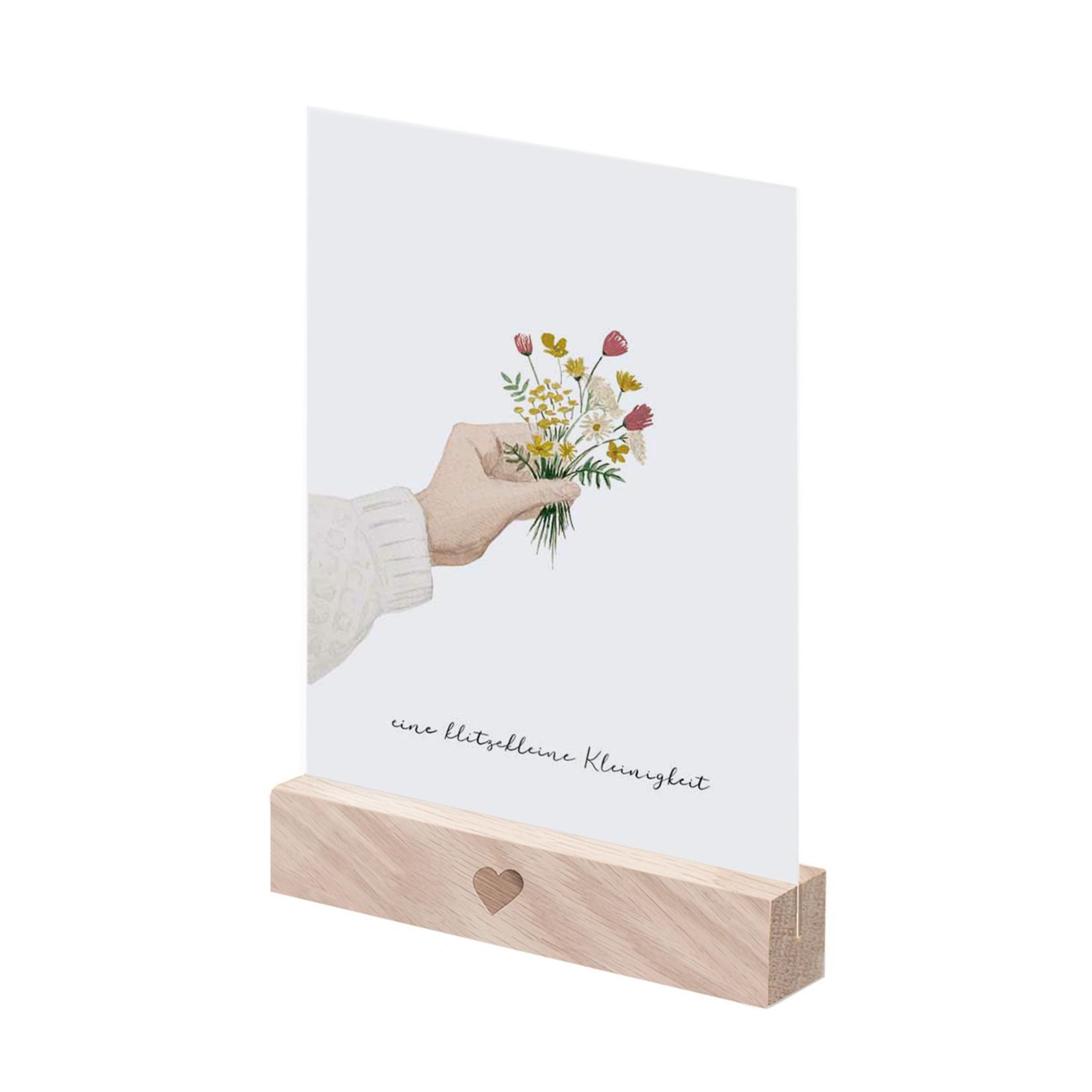 Eulenschnitt Postkartenständer Natur im 2er Set