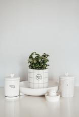 Bastion Collections Vorratsdose Porzellan weiß