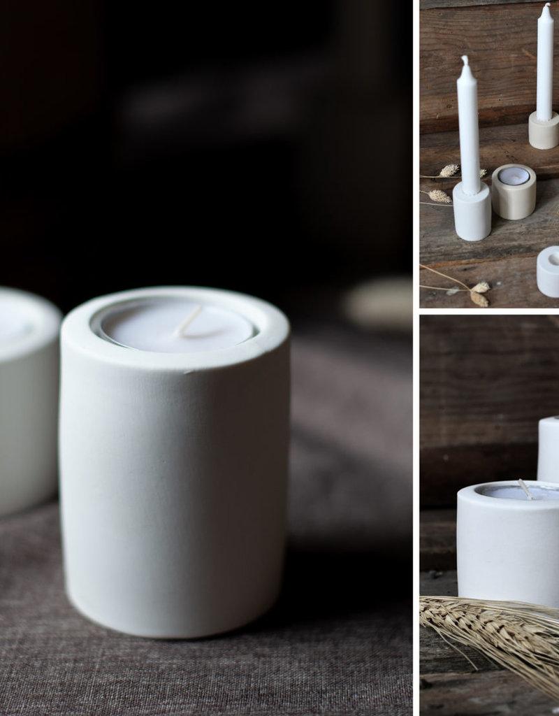 Storefactory  Teelichthalter Lekvall weiß M
