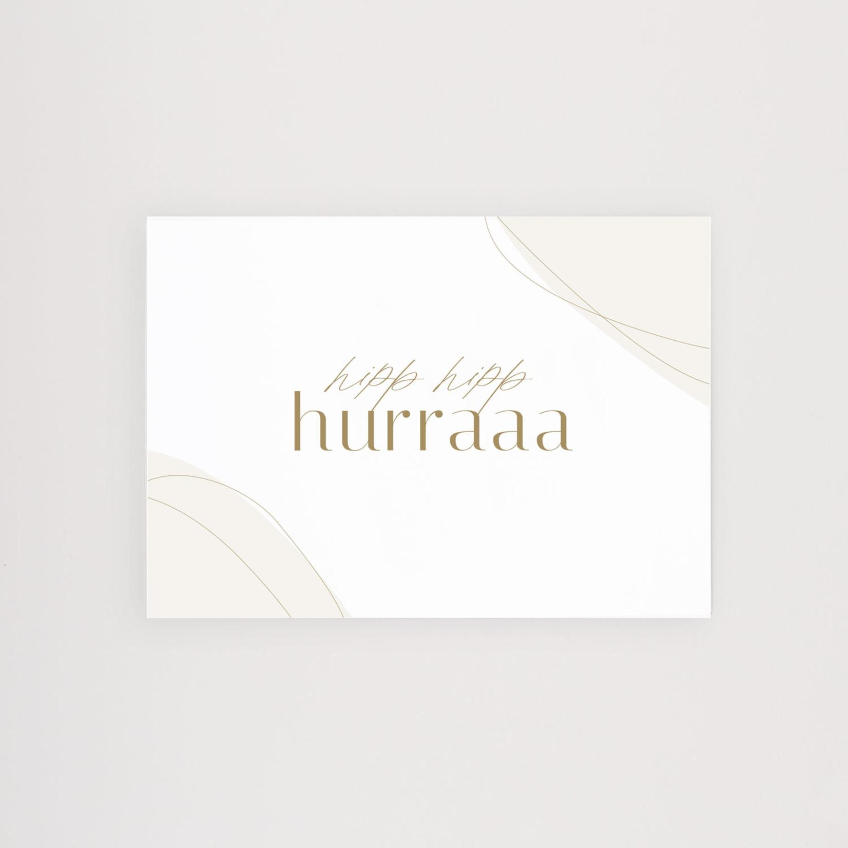 Postkarte Hip Hip Hurra