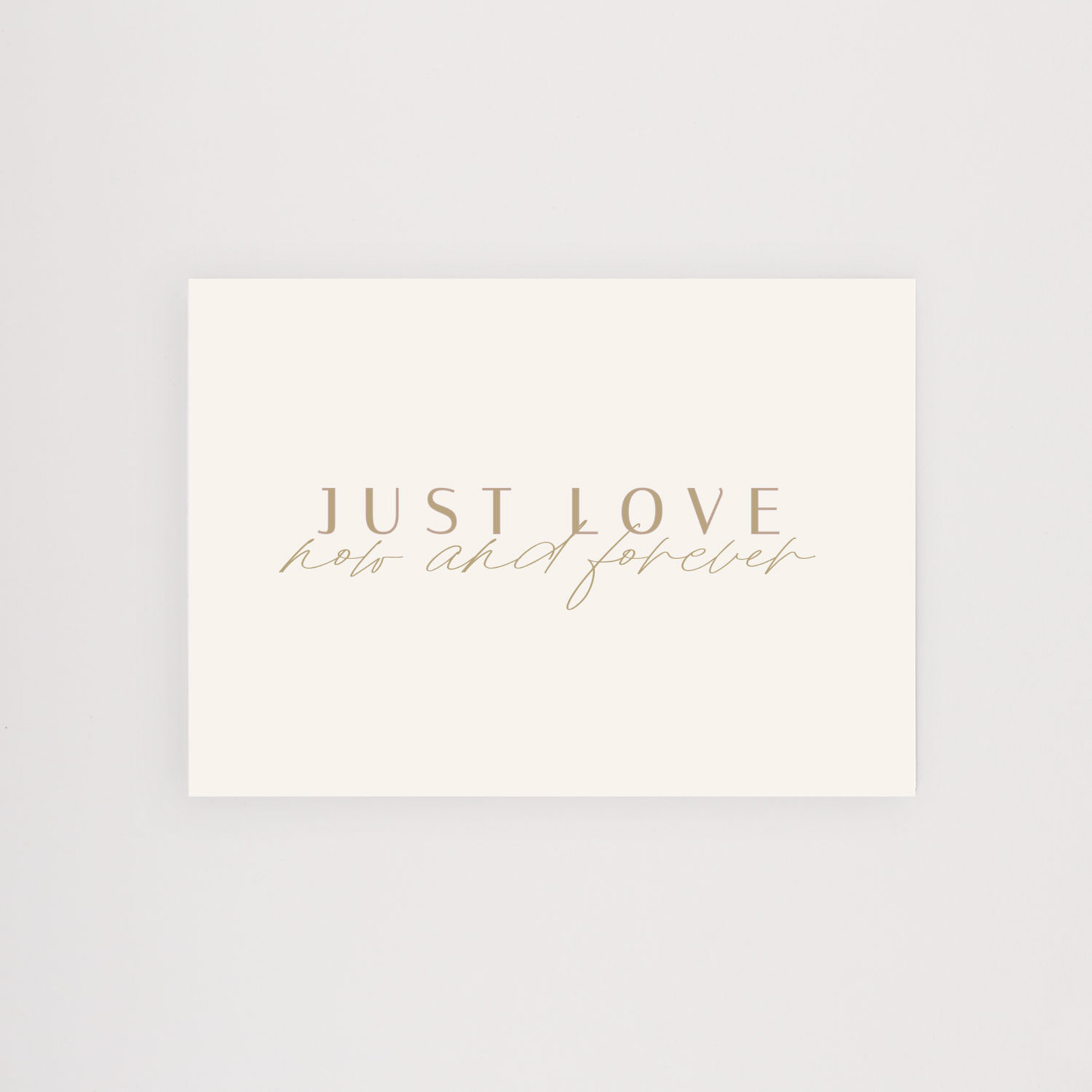 Postkarte Just Love now and forever