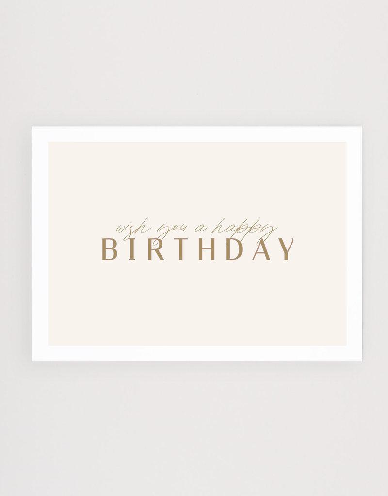 Postkarte wish you a happy birthday