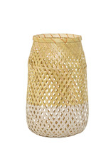 Bloomingville  Bambuslaterne mit Glaseinsatz