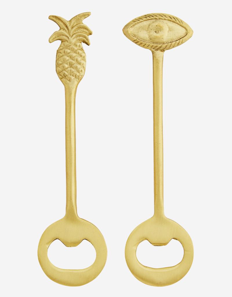 Madam Stoltz Flaschenöffner gold
