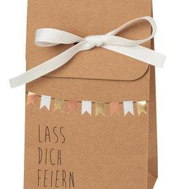 Räder Design Geschenkttasche Lass dich feiern