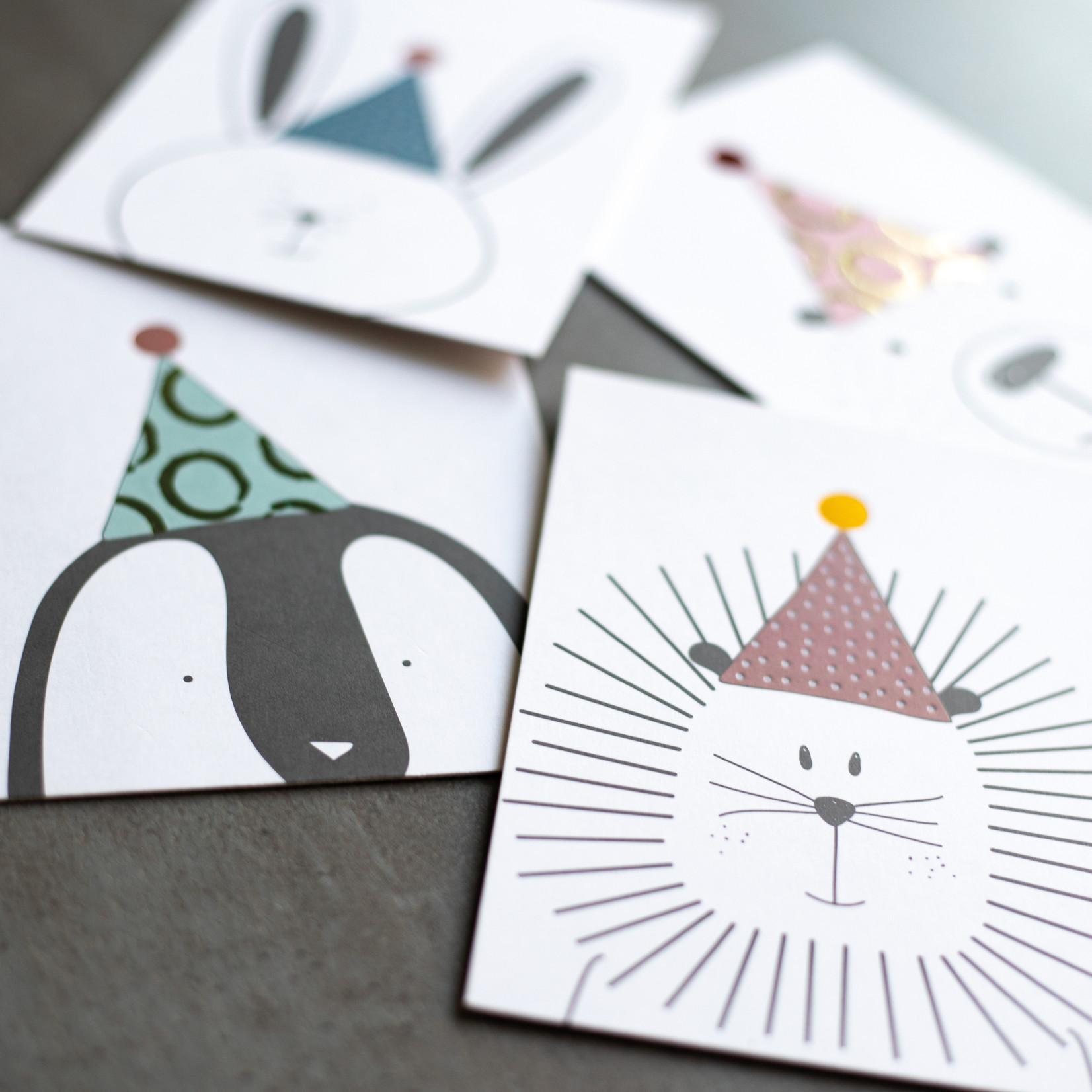 Räder Design Postkarte Fetenbär