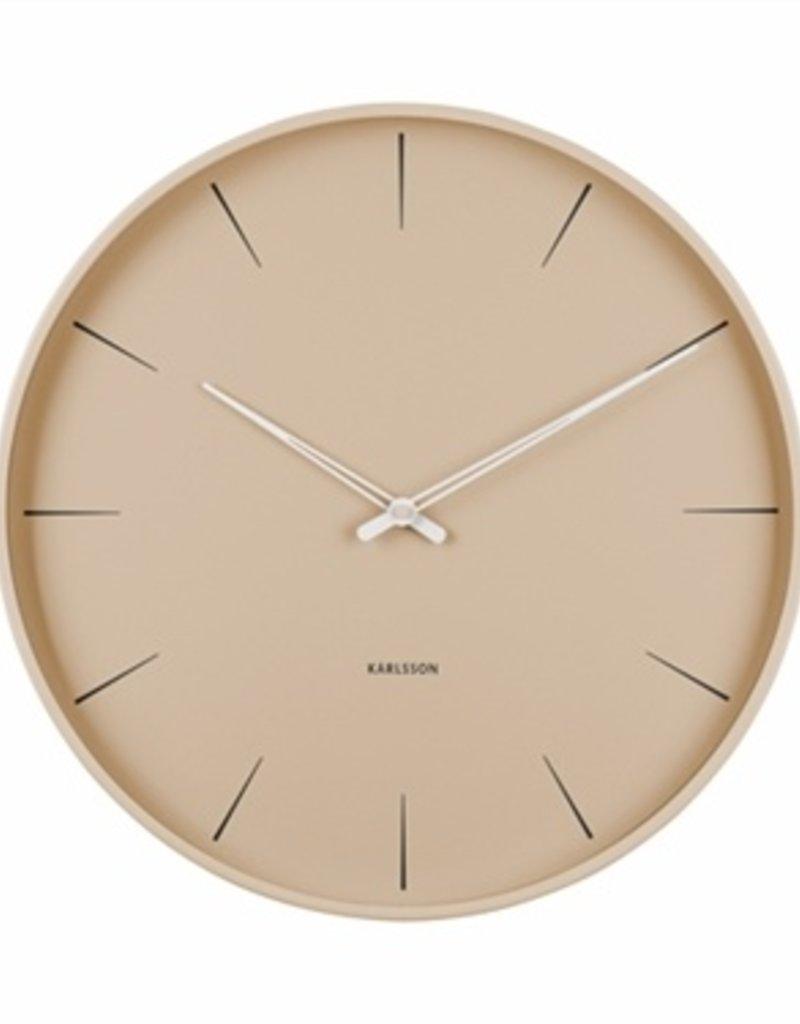 Presenttime Wall Clock Lure beige