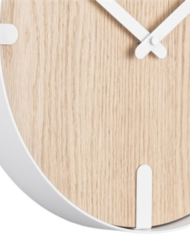 Presenttime Wall Clock Dashed white
