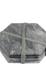 Untersetzer Hexagon Marble grey