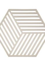 Untersetzer Hexagon light grey